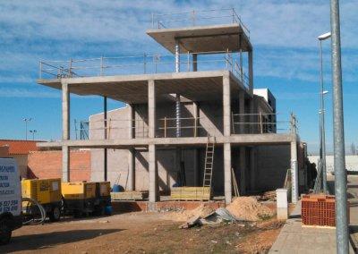 Paco Lozano Vivienda Manzanares estructura