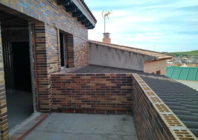 Paco Lozano Vivienda esquivias obra terraza